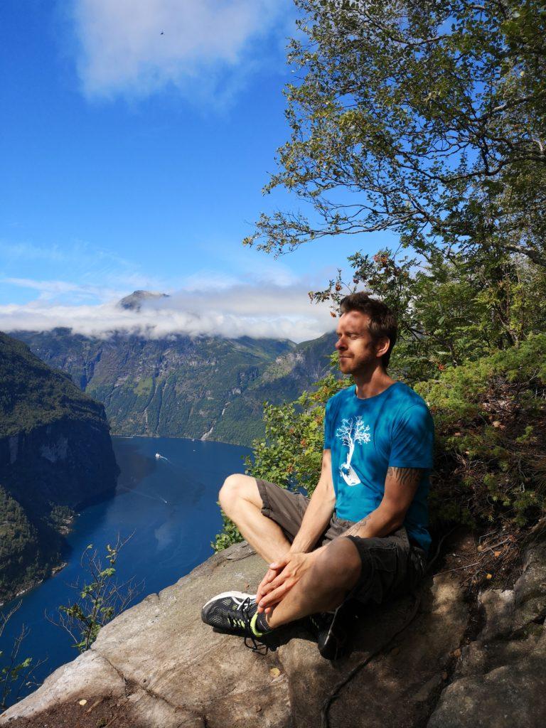 Steven Deschuyteneer Meditatie mijn persoonlijke privé dokter Noorwegen Geirangerfjord