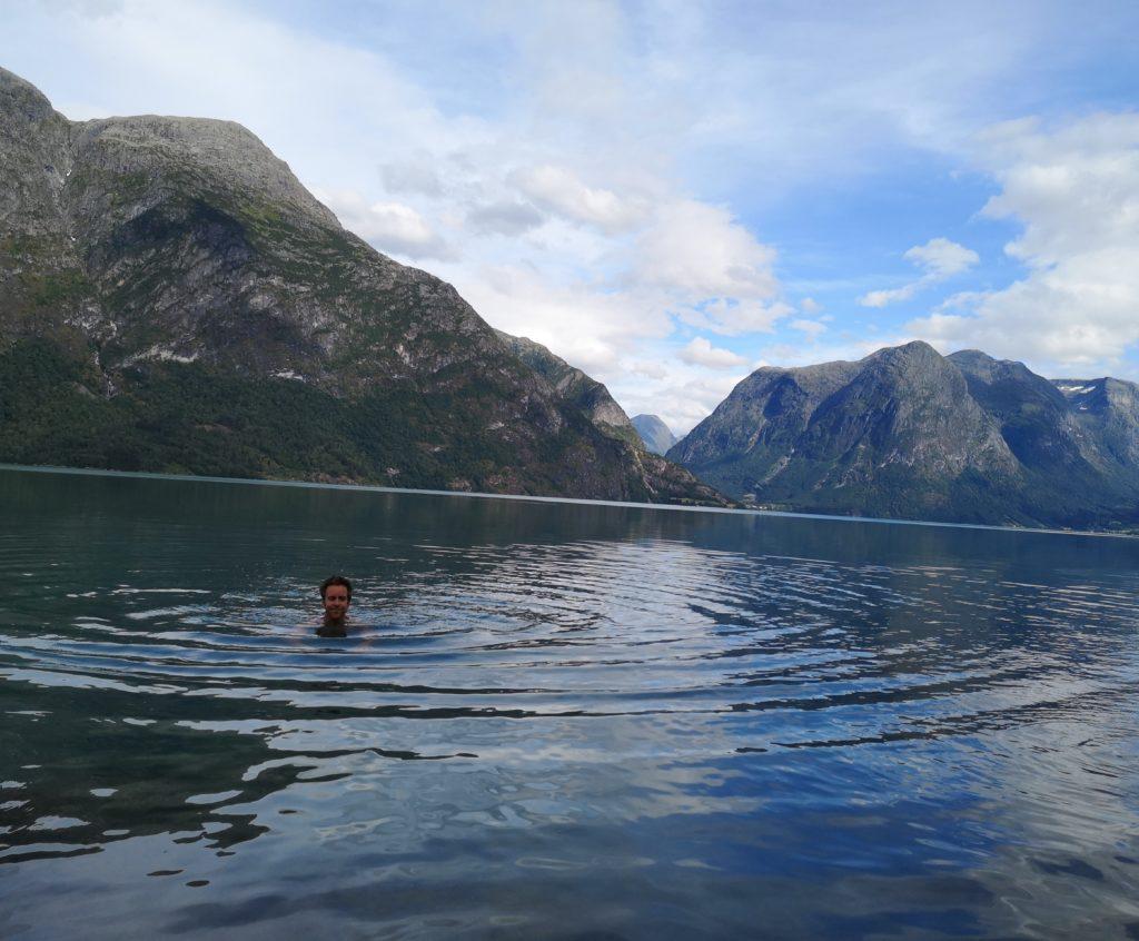 Steven Deschuyteneer 1 jaar koud douchen het resultaat Augustus 2019 Noorwegen