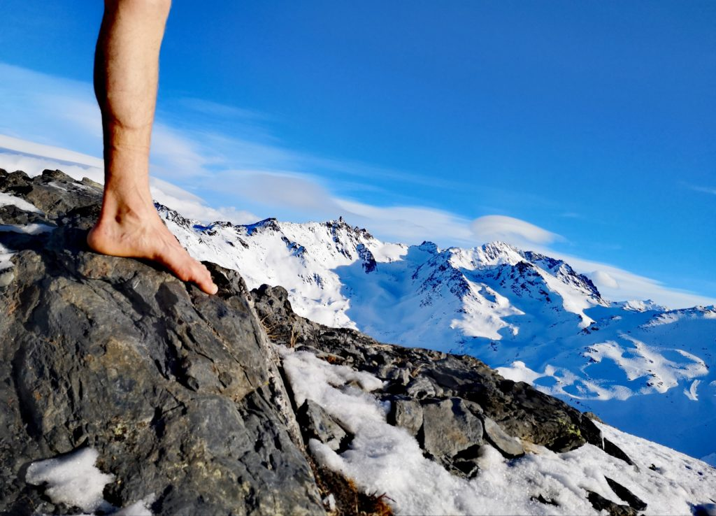 Steven Deschuyteneer Bergwandeling blootvoets een goed idee