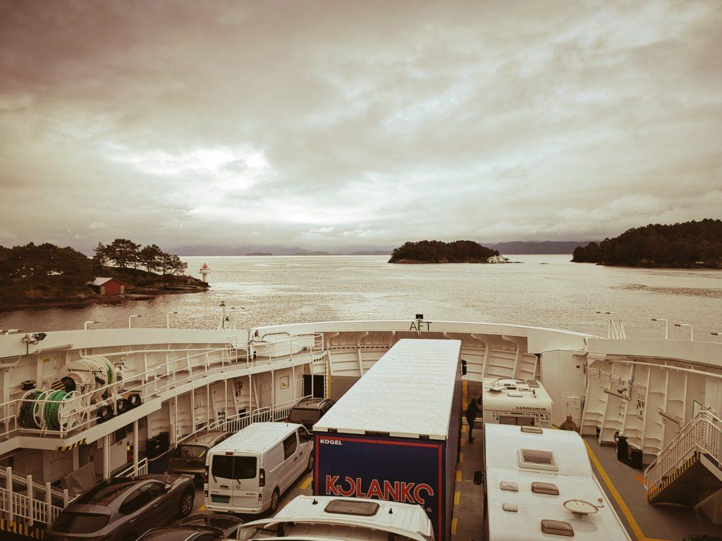 Steven Deschuyteneer Motorhome Mobile Home ervaring Denemarken Zweden Noorwegen Ferry