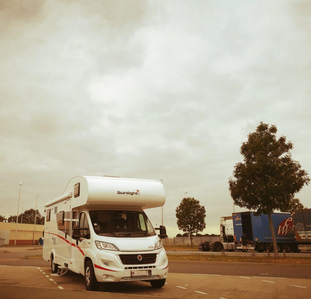 Steven Deschuyteneer Motorhome Mobile Home ervaring Denemarken Zweden Noorwegen Fiat Sunlight A70