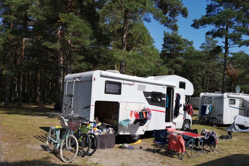 Steven Deschuyteneer Motorhome Mobile Home ervaring Denemarken Zweden Noorwegen Fiat Sunlight A70 staan