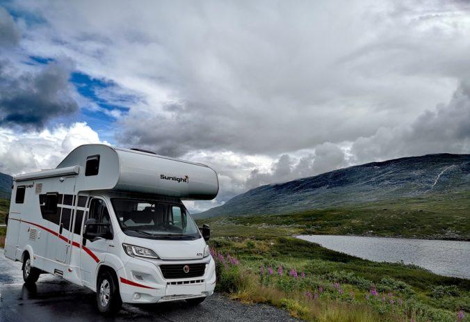 Steven Deschuyteneer Motorhome Mobile Home ervaring Denemarken Zweden Noorwegen Geiranger Route 63