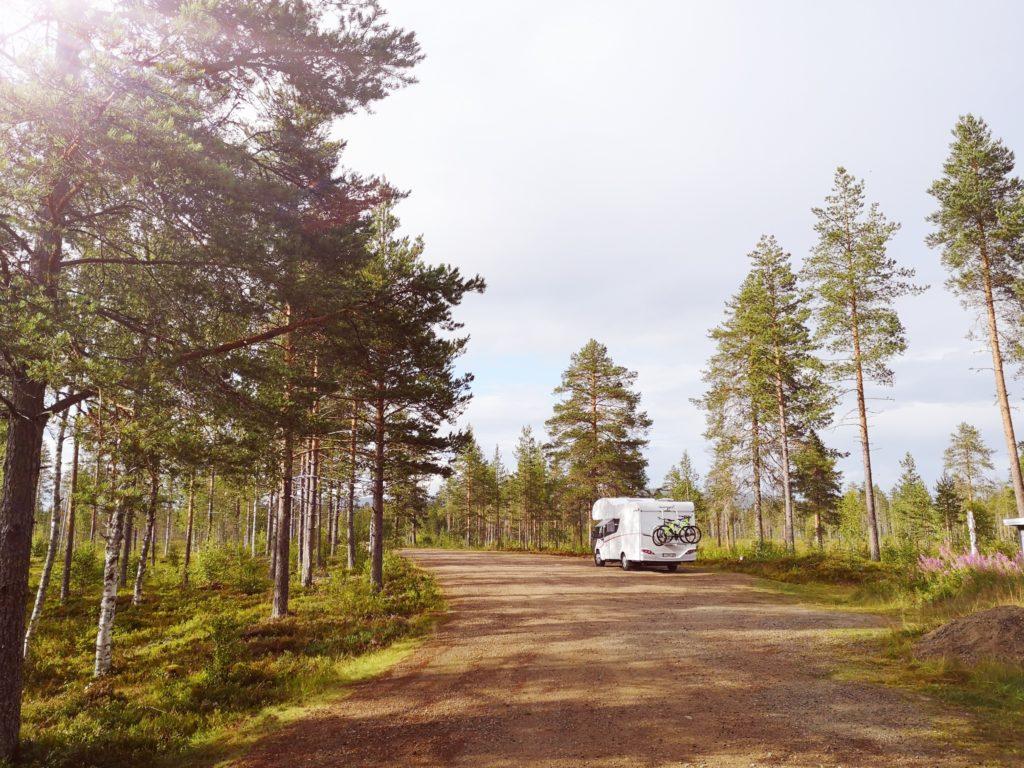 Steven Deschuyteneer Motorhome Mobile Home ervaring Denemarken Zweden Noorwegen Zweden bos einde van de wereld