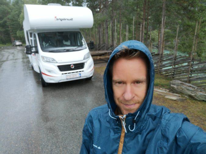 Steven Deschuyteneer Motorhome Mobile Home ervaring Denemarken Zweden Noorwegen onderweg