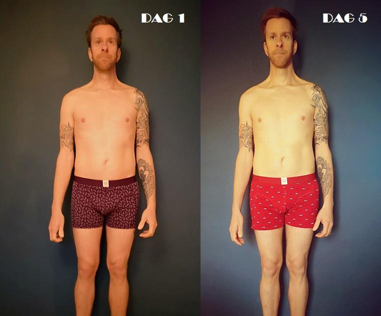 Steven Deschuyteneer 5 dagen niet eten hoe verloopt dat dag na dag lichaam